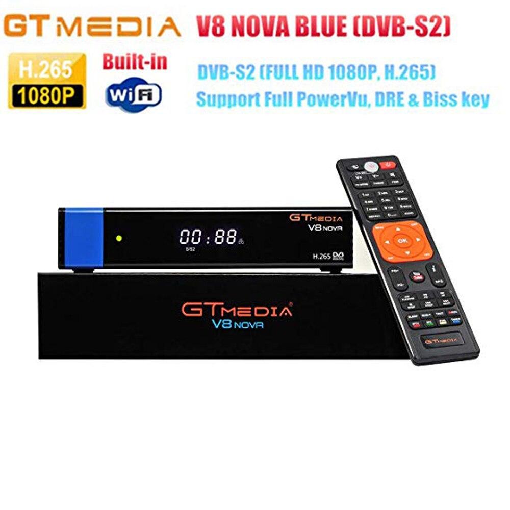 GTMEDIA V8 NOVA bleu/orange 1 an europe ccam récepteur Satellite DVB S2 prise en charge intégrée WIFI Ethernet puissance vu biss c * am