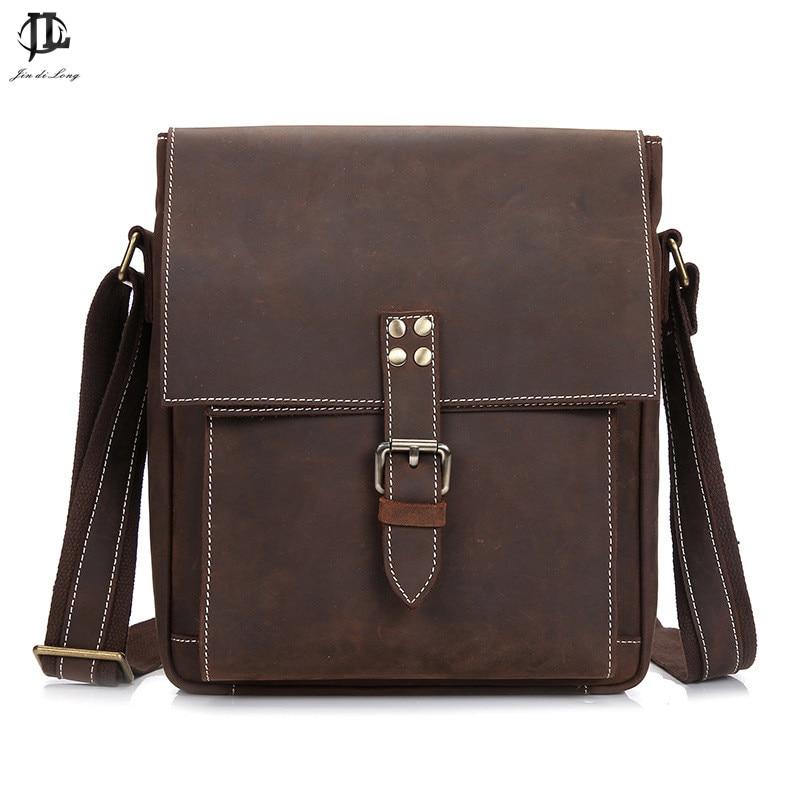 Crossbody Bag Men's Shoulder Bag Leather Large Cap Clip Multi-Pocket Zipper Square Handbag Men's Business Bag Brossbody Bag