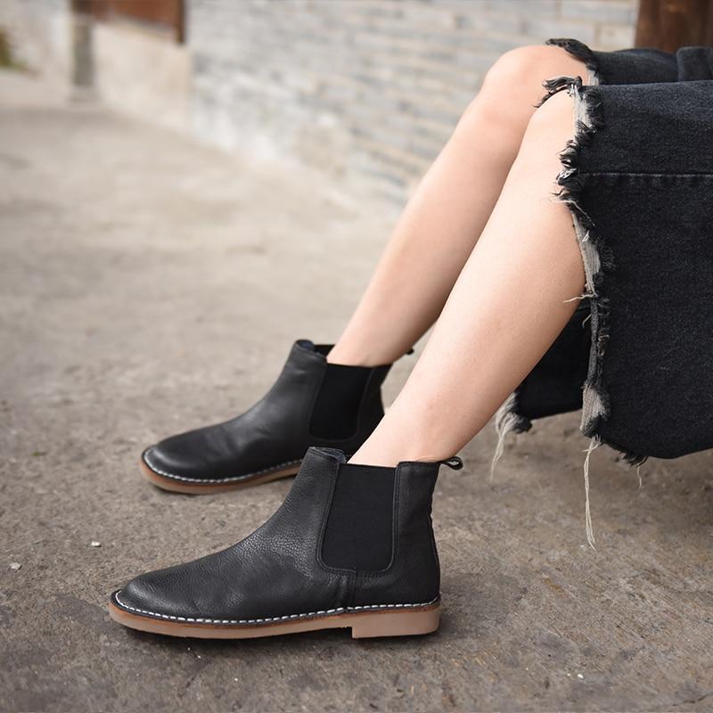 original 2016 autumn new genuine leather boots