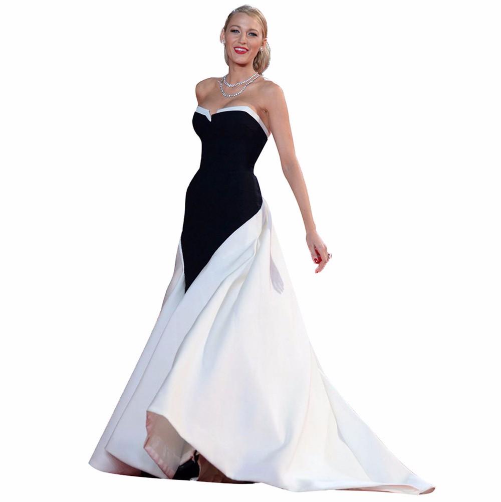 ea4bdbb9f03 Blake-Lively-Red-Carpet-Celebrity-Dresses-Formal-Black- 201501231034161f9a0  ...