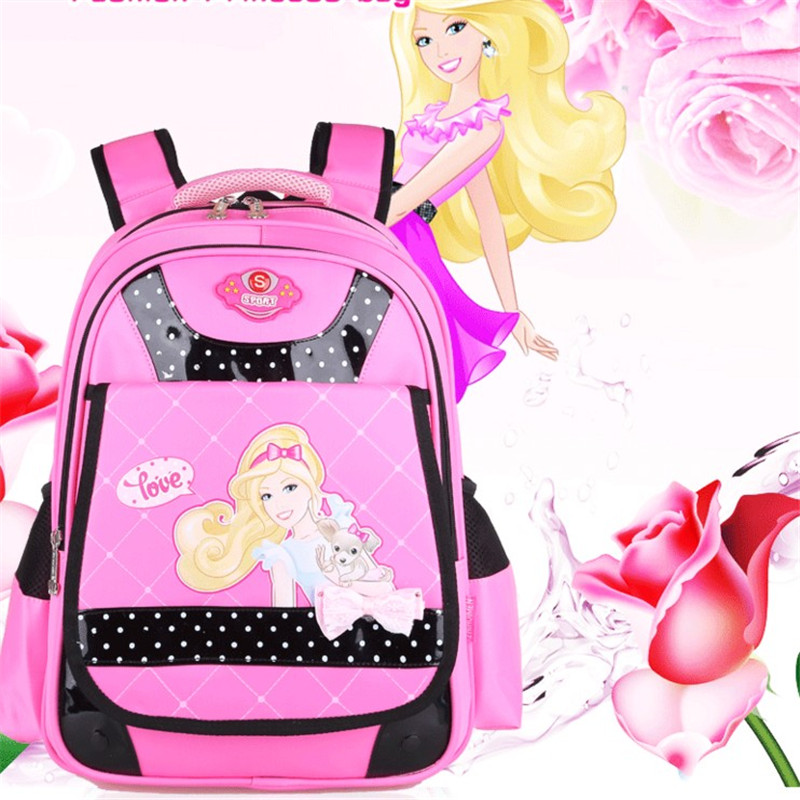 ФОТО 2016 Hot Unisex PU School Book Bags Lovely Girls Backpacks Primary School Students Travel Bags Bowtie Kids Children Backpacks