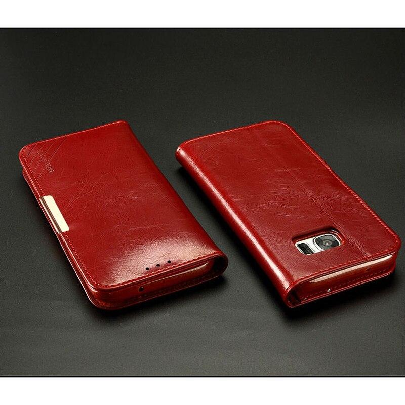 """imágenes para Para Samsung Galaxy (S7 Borde) 5.5 """"KLD Lujo Genuino de Cuero Imán Cubierta Del Caso Del Tirón Del Soporte de la Carpeta Para Samsung Galaxy (S 7 Borde)"""