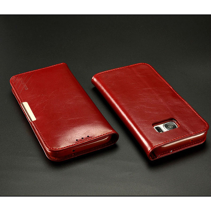 """Цена за Для Samsung Galaxy (S7 край) 5.5 """"КЛД Роскошная натуральная кожа магнит Бумажник Стенд флип чехол для Samsung Galaxy (S 7 край)"""