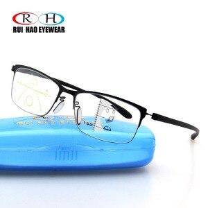 Image 3 - Fashion Progressive Glasses Anti Blue Ray Multifocal Reading Eyeglasses Presbyopic Spectacles Unisex Design Glasses Frame