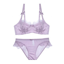 CINOON 2018 Sexy Women Lace Lingerie Bra Set Push Up Bras And Underwear Sets Plus size A B C D Cup Embroidery Bra And Panty Set