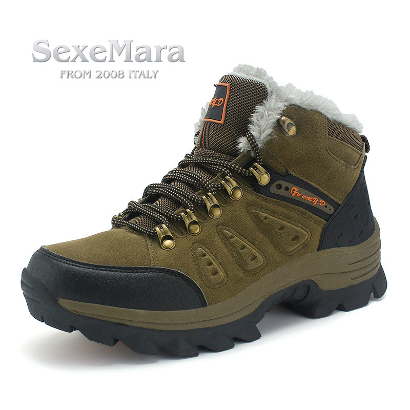 High Quality Unisex Hiking Shoes Autumn Winter Brand Outdoor Mens Sport Trekking Mountain Woman Climbing Athletic Shoes EUR35-47 clorts waterproof genuine leather outdoor boots hiking shoes 2017 new autumn winter mens sport shoes trekking mountain climbing