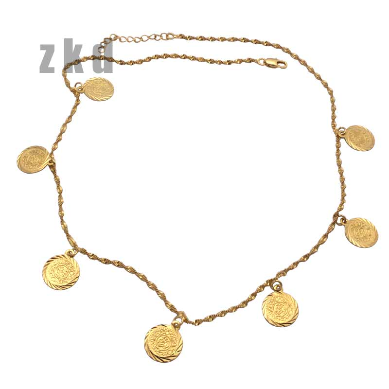 zkd   islam muslim Arab Ancient Coin necklace    48 cm chain