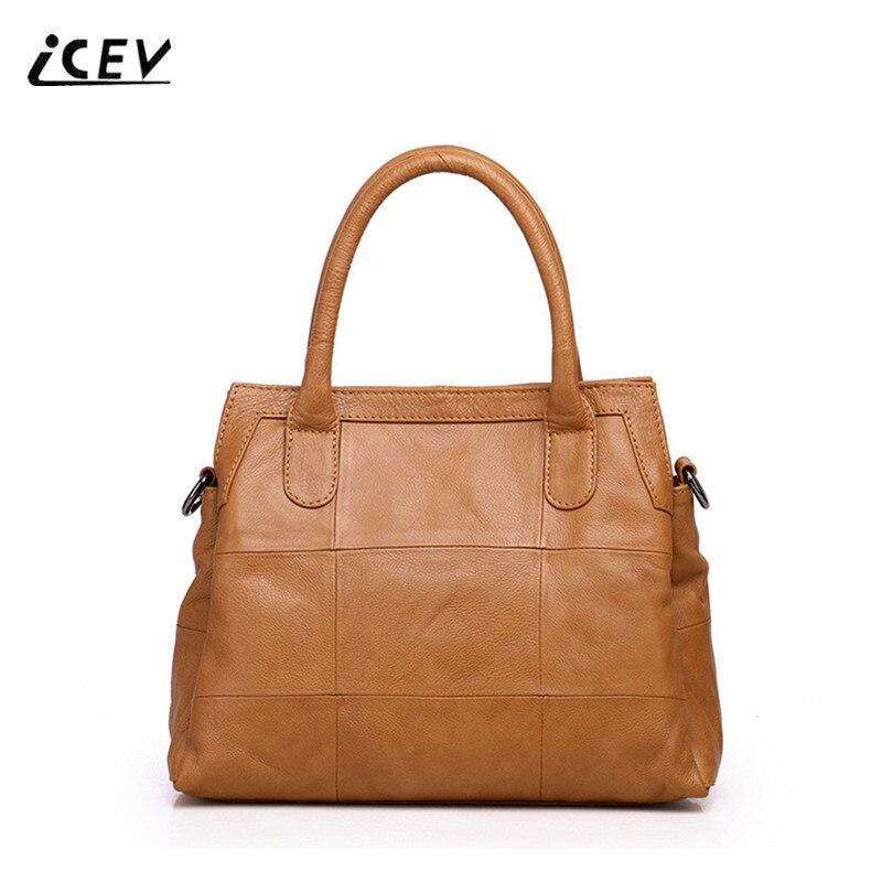 ICEV Organizer Designer Handbags High Quality Genuine Leather Handbags Women Leather Handbags Ladies Cowhide Quilted Fashion Bag