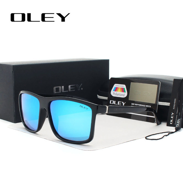 OLEY HD Polarized Men Sunglasses brand designer Retro Square Sun Glasses Accessories Unisex driving goggles oculos de sol Y6625