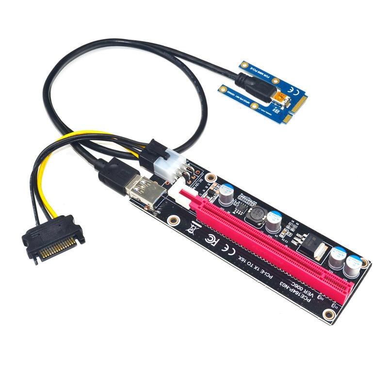 Mini PCIe a PCI express 16X Riser para portátil tarjeta gráfica externa EXP GDC BTC Antminer minero mPCIe a PCI-E ranura de tarjeta