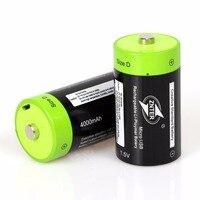 Nuevo 2 unids/lote ZNTER 1,5 V 4000mAh Micro USB batería recargable de Lipo D LR20 batería para RC Drone con cámara Accesorios