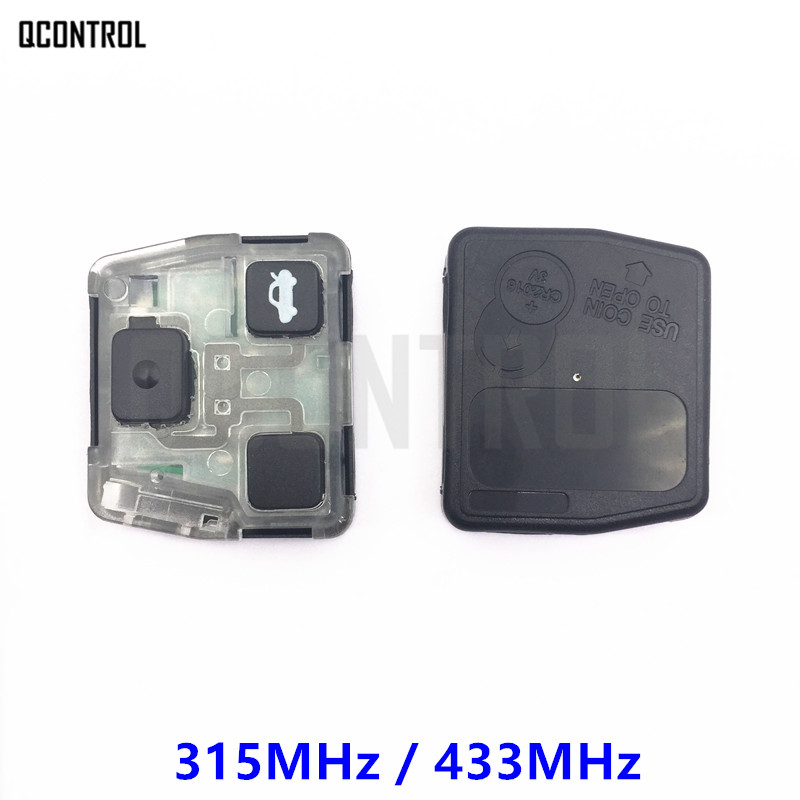 QCONTROL Vehicle Remote Key Inner Internal Core Assembly for Toyota Camry Prado Corolla Frequency 315MHz or 433MHz