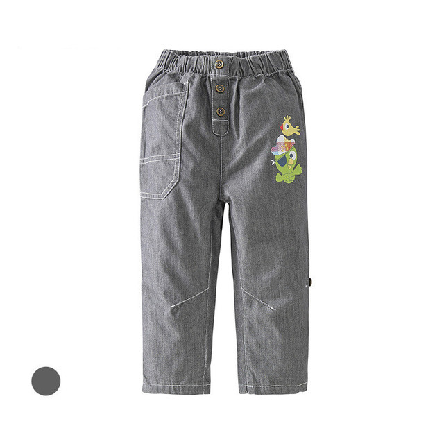 2017 Top Quality Jeans Boys 0-6 Years Old Baby Cotton Cartoon Jeans Kids Elastic Waist Cowboys Infantil New Spring Baby Pants