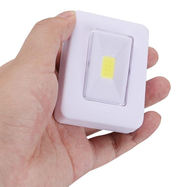 COB Schalter FÜHRTE Wand Licht Nachtlicht Magnetische AAA Batterie Betrieben Ultra Helle Luminaria Mit Magic Tape Für Garage Schrank