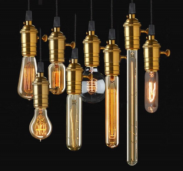 vintage loft retro diy e27 spiral light novelty fixture glass led edison bulbs 40w 110 240v pendant lamps lightingin bulbs from