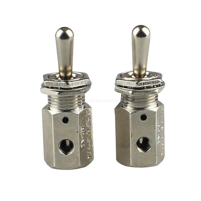 Position 2 Way Air Pneumatic Knob Control ON OFF Toggle Valve TV 3S