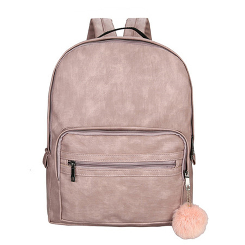 Fashion Women Backpack School Large Backpack Female Leisure Bag Bagpacks For Teenage Girls PU Leather Sac A Dos Back Pack Pink p kuone brand luxury colorful genuine leather backpack men soft bag teenage back pack travel rucksack school backpack sac a dos