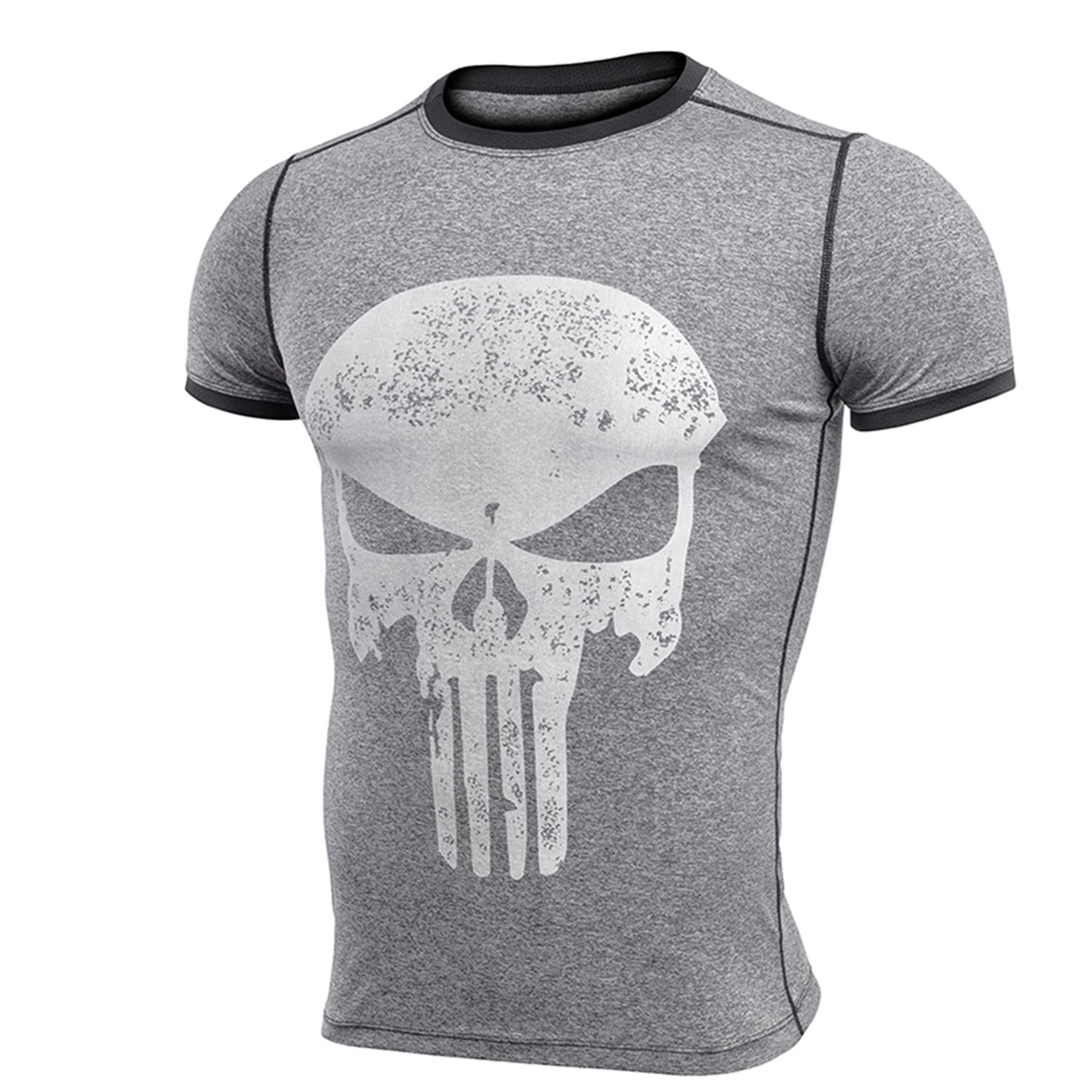 Fashion men quick dry t shirt summer casual 3d print skull for Quick t shirt printing