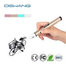 DEWANG Low Temperature 3D Printer Pen Kids Gift 3D Printing Pen Children Favorite Magical 3D Pen ABS Filament 3Colors 9Meters