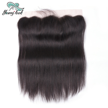 Young Look Hair Ear to Ear Lace Frontal Closure 13X4 Free Part With Baby Hair Pre Plucked Brazilian Straight Human Hair Non-Remy