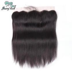 Молодой вид волос уха до уха синтетический Frontal шнурка синтетическое закрытие волос 13X4 свободная часть с ребенком волос предварительно