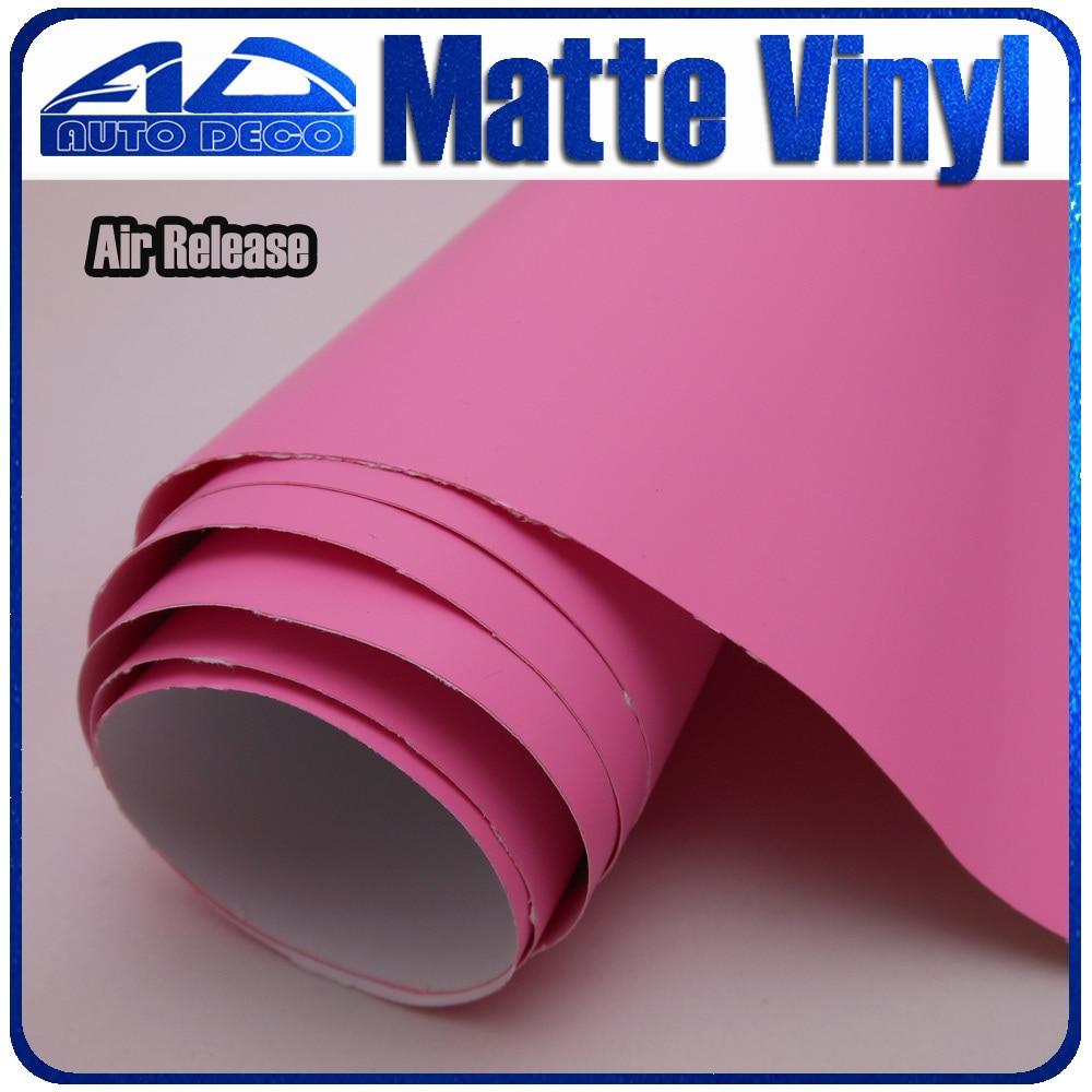 30м розовый матовый автомобиля винила обруча автомобиля крышка изменение цвета стикер фильм с воздуха пузырь бесплатно FedEx Бесплатная доставка Размер:98 футов х 5 футов