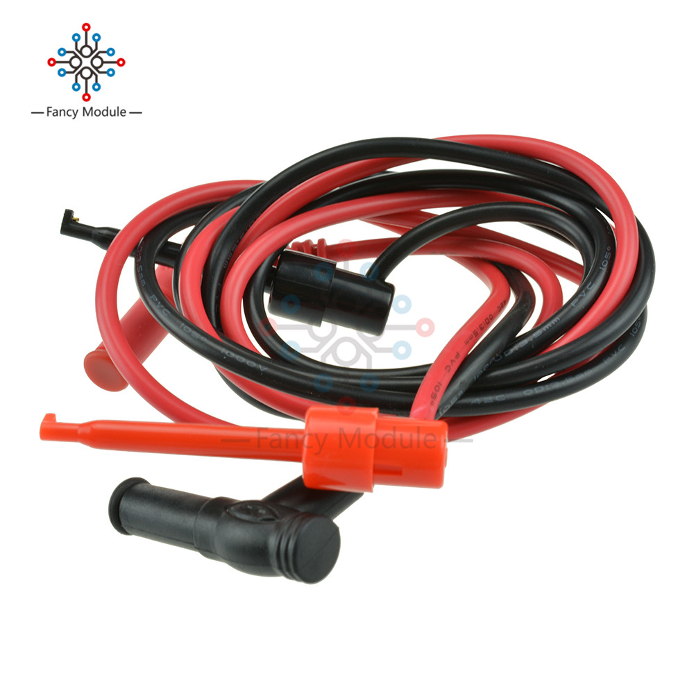 1Pair For Multimeter Test Equipment Banana Plug To Test Hook Clip Probe Cable Connector