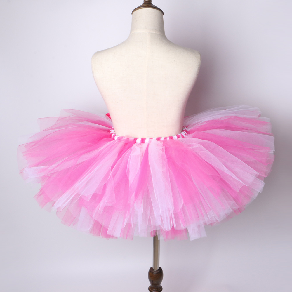 3dbb4934cd589 Girls Tutu Skirt Hot Pink & Light Pink Fluffy Tulle Skirt Girls Baby Tutu  Kids Birthday Party Skirt Children Dance Ballet Tutus-in Skirts from Mother  & Kids ...