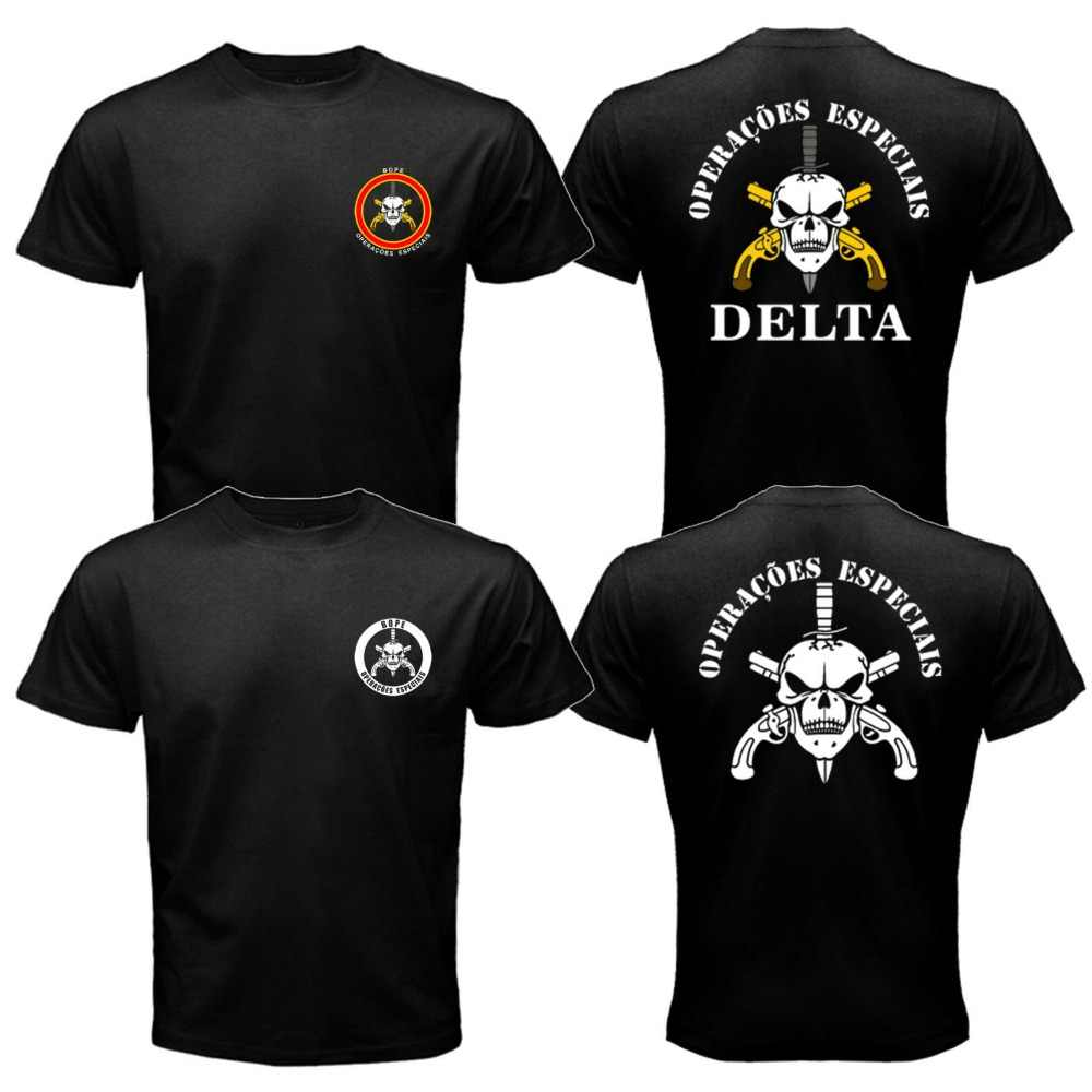 Nieuwe BOPE Elite Death Squad Brazilië Special Force Unit Militaire Politie T-shirt Tee Mens Tees Cool Tops