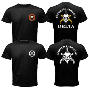 New BOPE Elite Death Squad Brazil Special Force Unit Military Police T-shirt Tee Mens Tees Cool Tops(China)