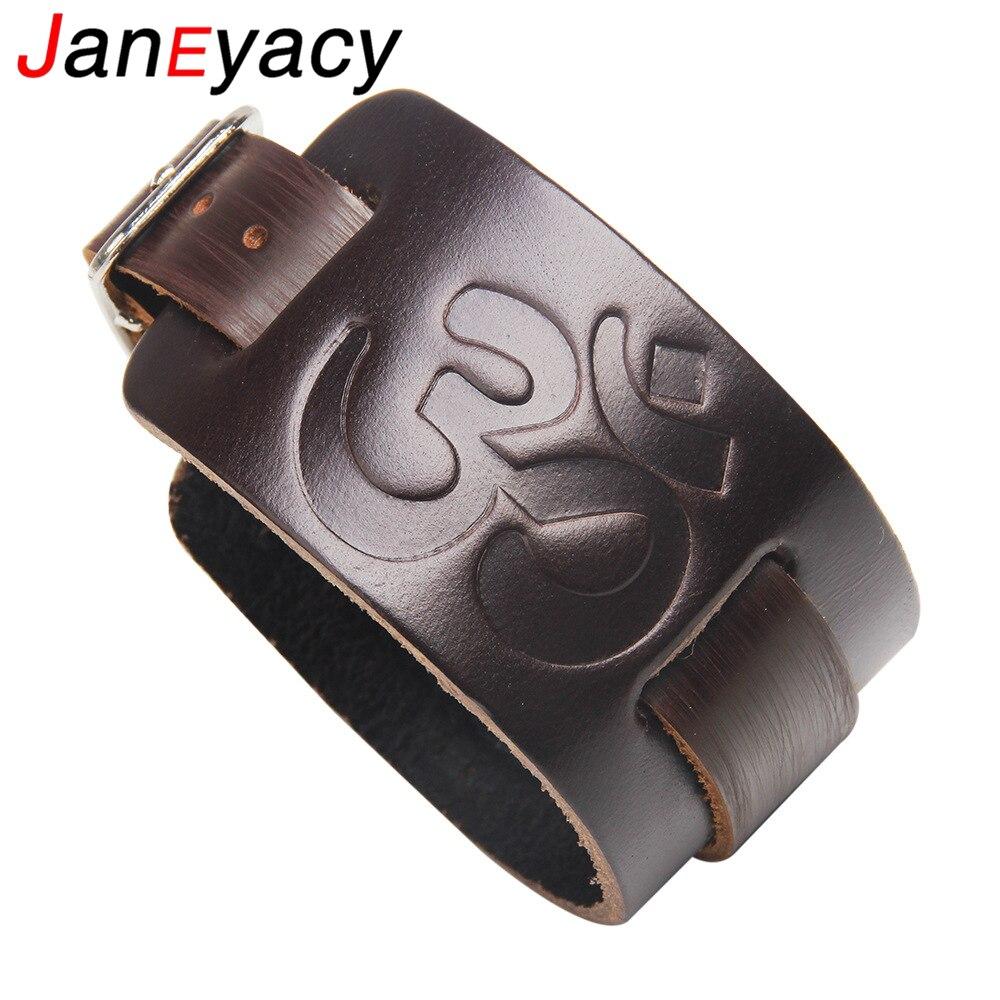 Купить janeyacy новый модный коричневый черный кожаный браслет повседневный