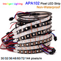 APA102 led strip 30/60/144leds/m, digital strip individual addressable, non waterproof IP30 DC5V
