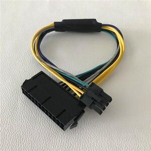 Image 1 - 卸売 100psc/ロット ATX 24Pin メスデルの Optiplex 3020 7020 9020 T1700 サーバーマザーボード 8Pin オス電源ケーブル 30 センチメートル