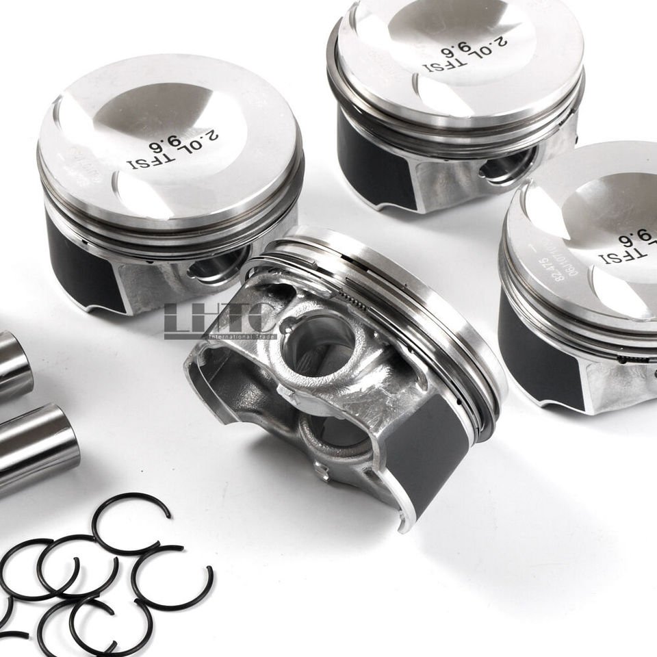 0.5mm Pins Φ21mm for 2.0T Audi A4 A5 VW GTI 4x Pistons Rings Set Oversize 83.01