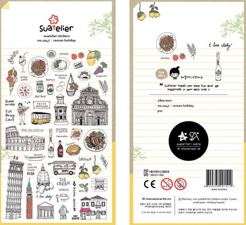 Retro Style Rome Vacations Decorative Sticker Diary Album Label DIY Scrapbooking Stationery Stickers Escolar - discount item  22% OFF Stationery Sticker