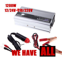 Kostenloser versand 1200W Power Inverter DC 12 24 V zu AC 110 220V modifizierte sinus welle auto Power konverter USB ladegerät
