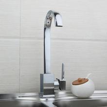 Поворотный носик Кухонные смесители 8522-1 Туалетная вода смеситель кран Кухня раковина квадратного смеситель torneira