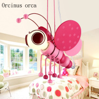 The latest cartoon small bee chandelier Princess Room girls bedroom creative personality lovely LED children Chandelier
