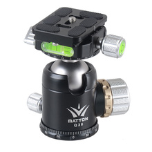 Matton Q36 Tripod Head and Fast Launch Plate interface 1/four & three/eight inch For Manfrotto Gitzo RRS ARCA-SWISS KIRK Wimberley Benro