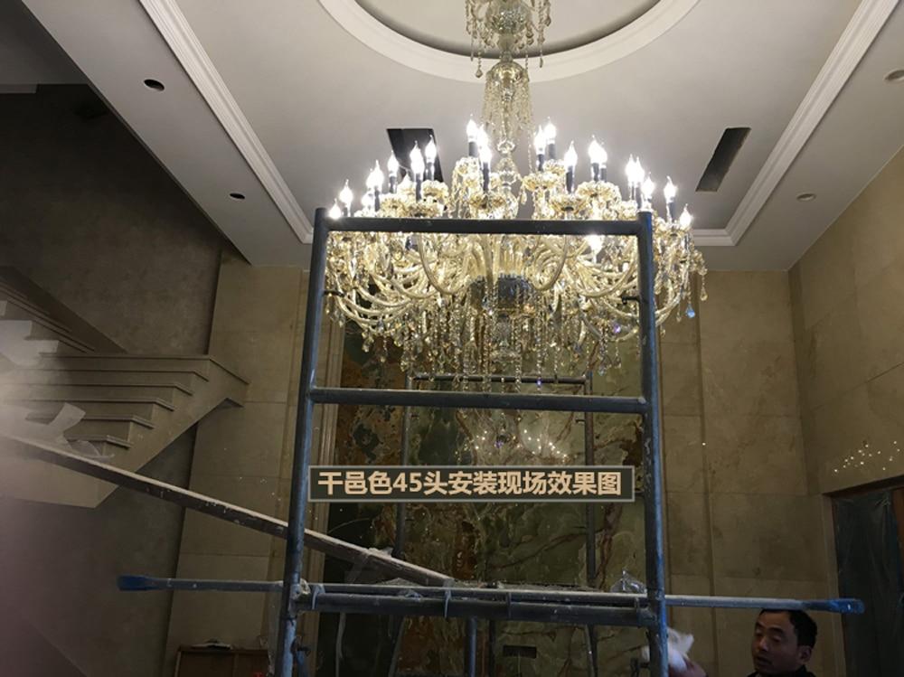 Grande lampadario per soggiorno moderni lampadari di cristallo