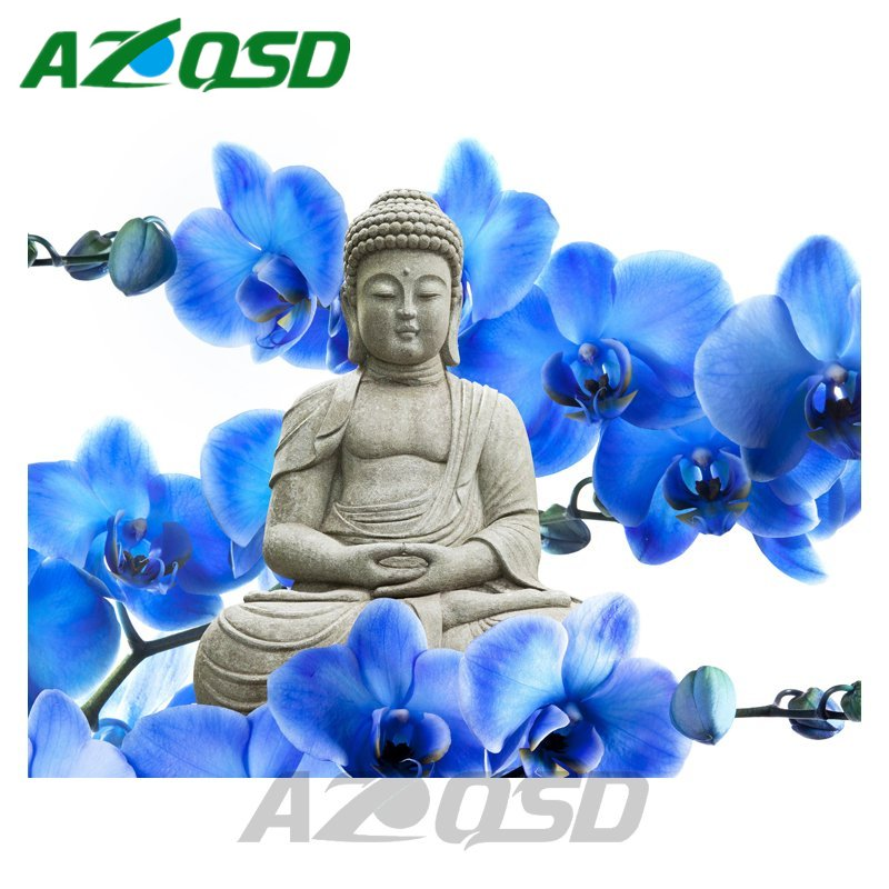 AZQSD Buddha Statue Diamond Embroidery Needlework Full Square Diamond Painting Cross Stitch kits Home Decor bb4077
