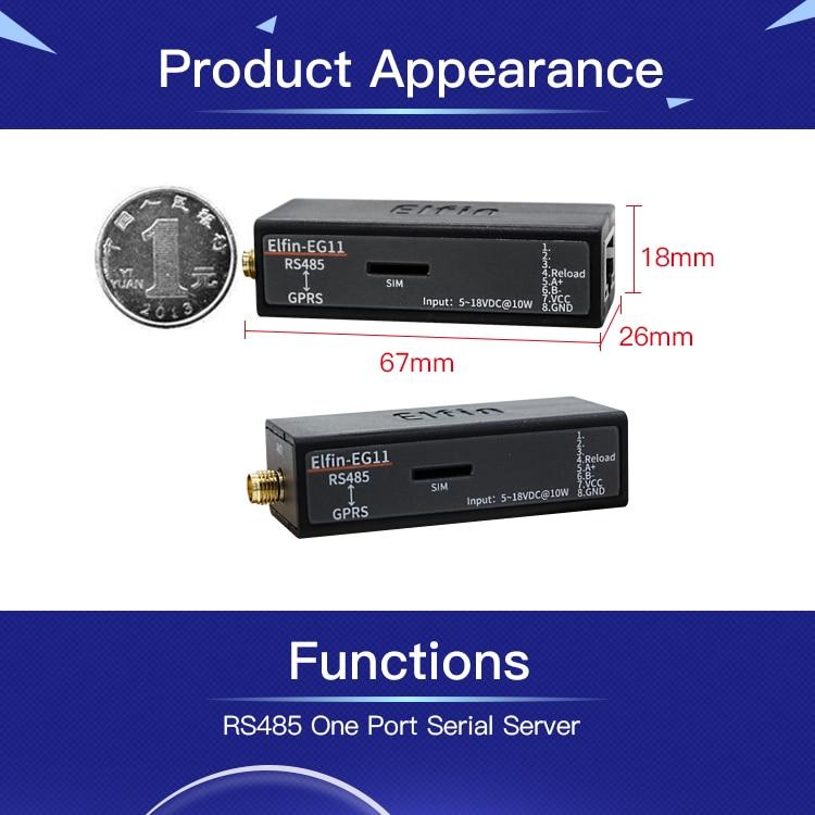 Image 4 - EG11 シリアルポートデバイスネットワークに接続 modbus tpc ip 機能 RJ45 RS485 gsm gprs シリアルサーバビルオートメーション   -