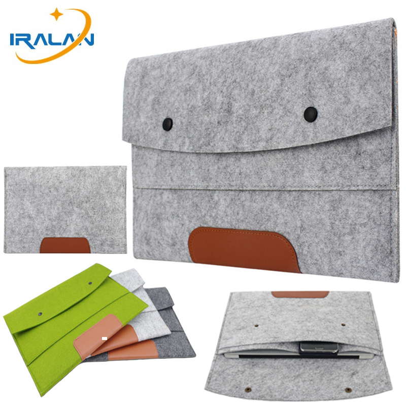 100% Quality Wool Felt Slim Sleeve Notebook Bags For Macbook Pro Retina 11 13 15 Case For Xiaomi Air 12.5 13.3 15.6 Surface Laptop 13.5 Cover Quell Summer Thirst