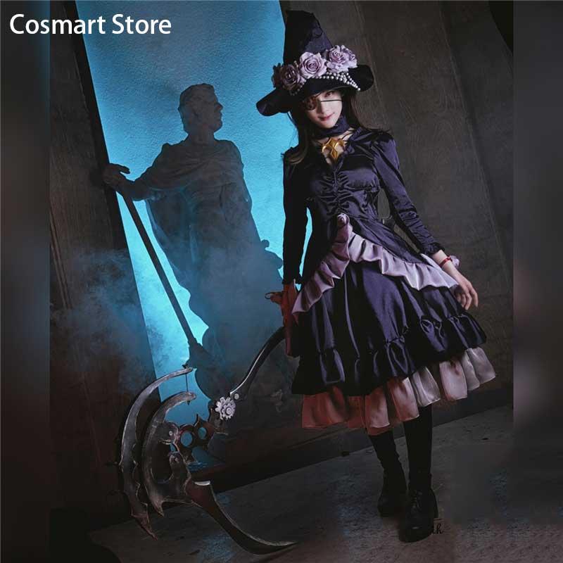 [Customize] Final Fantasy XIV FF14 XIV Black Edda Cosplay Costume Palace of the dead Black Lolita Dress Halloween Costume for Wo