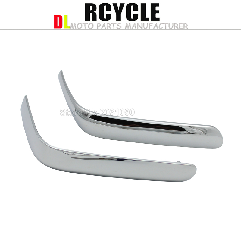 Connecting Fairing Bow Shaped Chrome Strake For Honda GoldWing GL1800 2001 2011 GL 1800 Chrome Decoration