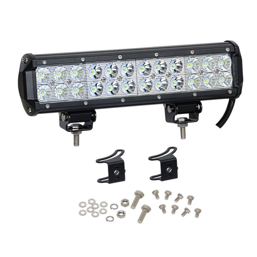 1 pièces 12 Pouces 72 W LED D'inondation De Tache Lumineuse de Travail Combo lumière LED barre de LED Conduisant La Lampe De Brouillard Hors Des Lumières De Route ATV SUV Pour Jeep Ford F350
