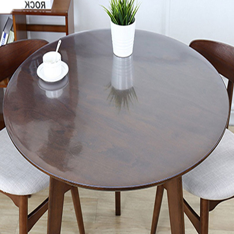 Balle Pvc Round Tablecloth Transparent Table Cover Round