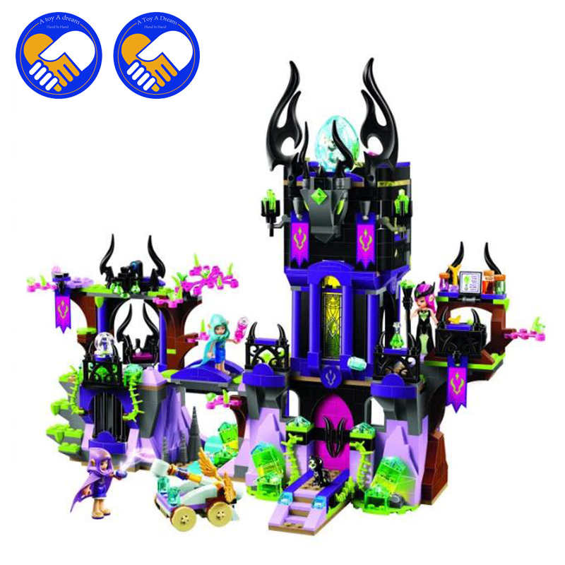 (A Toy A Dream)Elves 10551 Wizard Series 41180 Laguna Dark Magic Castle Diy Blocks Toys Compatible with 41180 Block Toys 10551 elves ragana s magic shadow castle building blocks bricks toys for children toys compatible with lego gift kid set girls