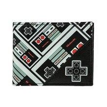 Nouveaute Portefeuille Nintendo Controleur Tous Plus Impression Bi Fold Noir Carte De Credit Sac