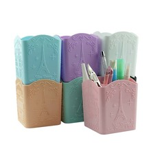 4 Compartments Makeup Brush Holder Portable Empty Plastic Br